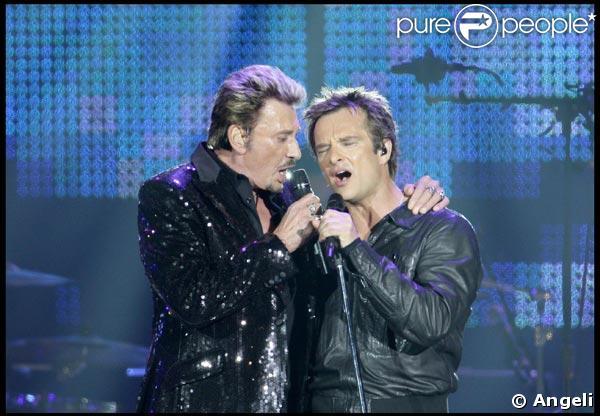 Johnny Hallyday et David Hallyday, le 30 mai 2009, au Stade de France !