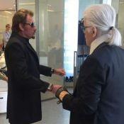 Karl Lagerfeld retrouve Johnny Hallyday au paradis, mots touchants de Laeticia