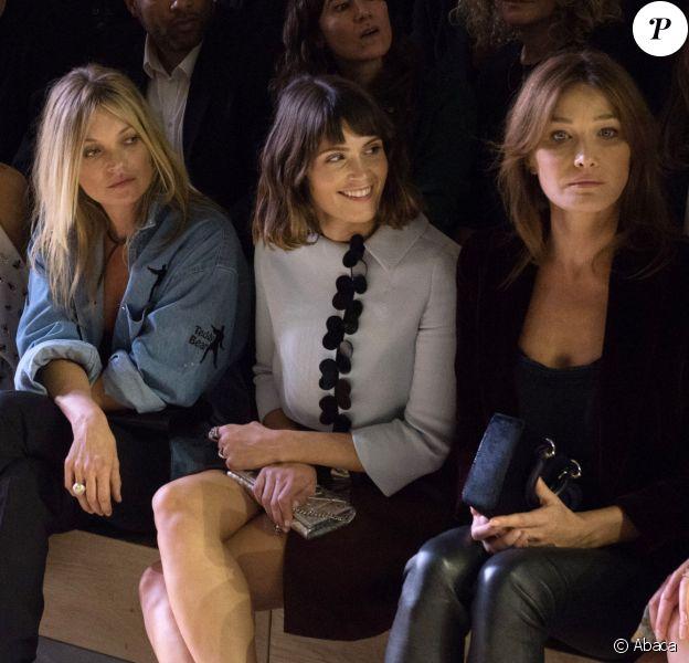 Rihanna, Kate Moss, Gemma Arterton et Carla Bruni au premier rang du défilé Christian Dior à Paris, en 2016.