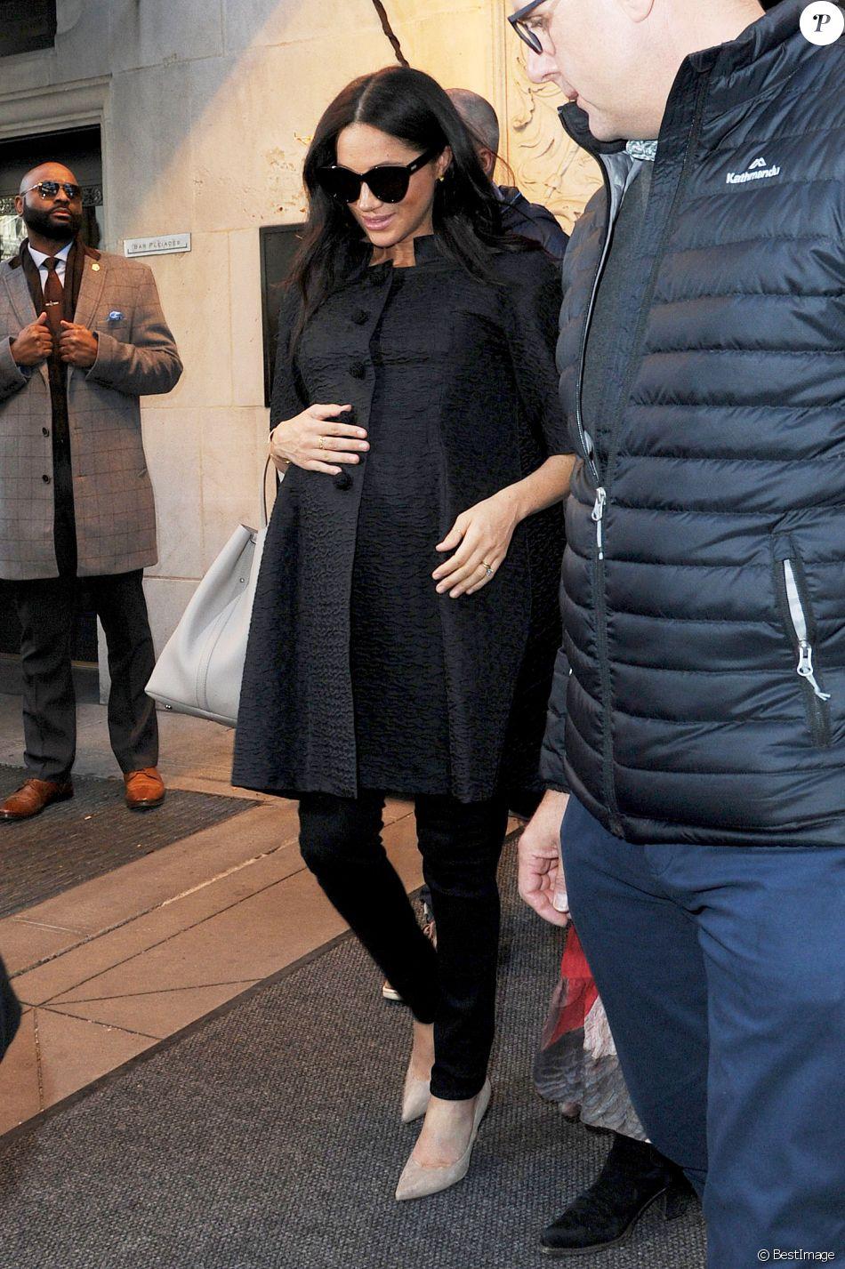 Meghan Markle, duchesse de Sussex, enceinte, est allée déjeuner avec son amie Abigail Spencer au restaurant de l'hôtel Surrey à New York City, New York, Etats-Unis, le 19 février 2019.