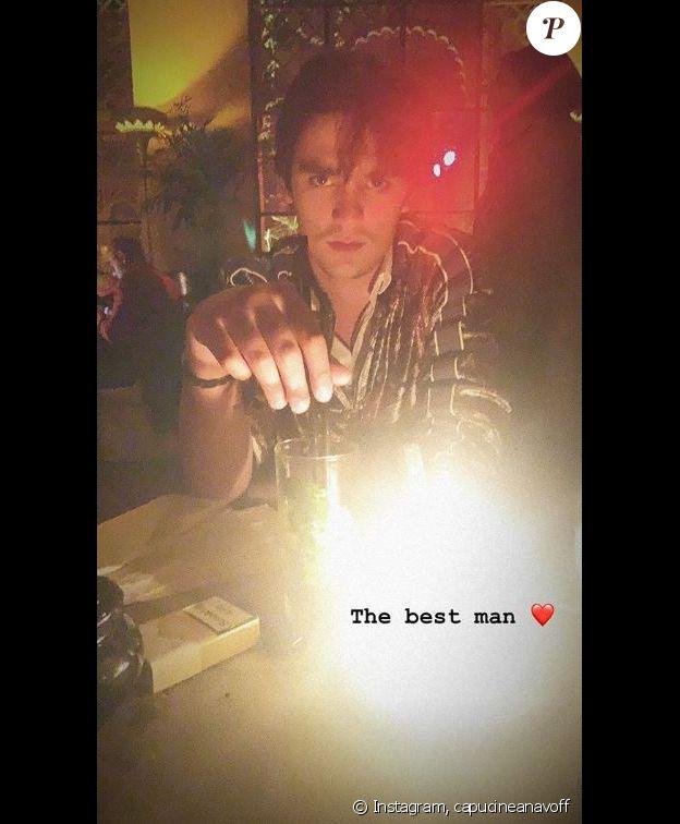 Alain-Fabien Delon photographié par Capucine Anav lors de vacances à Marrakech. Instagram, le 21 février 2019.