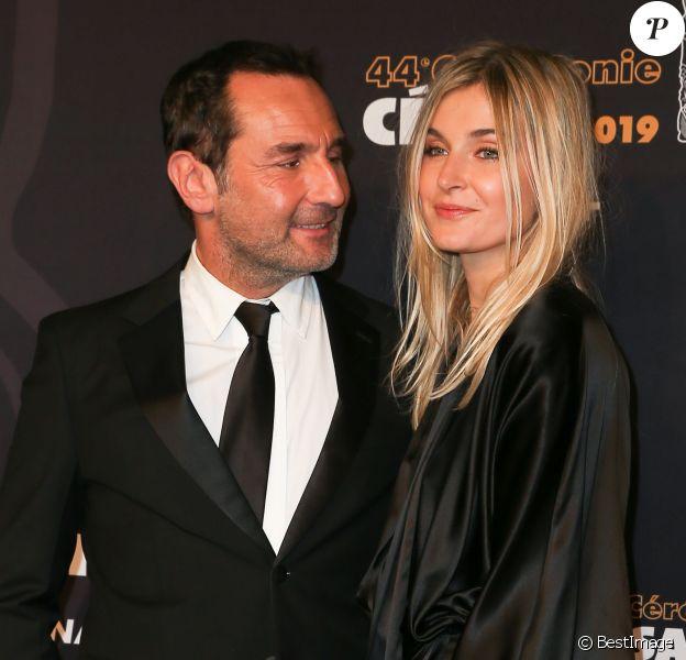 Gilles Lellouche et sa compagne Alizée Guinochet - Photocall de la 44ème cérémonie des César à la salle Pleyel à Paris. Le 22 février 2019 © Borde-Jacovides / Bestimage