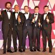 """Bob Persichetti, Peter Ramsey, Rodney Rothman, Phil Lord et Christopher Miller (Oscar du meilleur film d'animation pour le film """"Spider-Man : New Generation"""") - Pressroom de la 91ème cérémonie des Oscars 2019 au théâtre Dolby à Los Angeles, le 24 février 2019."""
