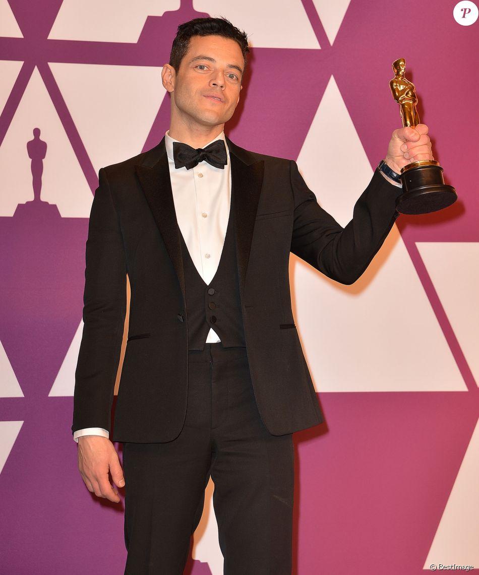 Rami Malek Oscar Du Meilleur Acteur Pour Le Film Bohemian Rhapsody Pressroom De La 91ème Cérémonie Des Oscars 2019 Au Théâtre Dolby à Los Angeles Le 24 Fév Purepeople