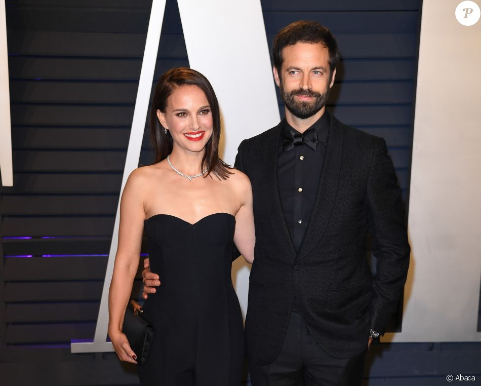Natalie Portman et son mari Benjamin Millepied à la soirée Vanity Fair Oscar Party à Los Angeles, le 24 février 2019.