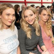 Fashion Week : Jennifer Lawrence et Cara Delevingne, irrésistibles chez Dior