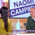 """Fabrice Luchini bouleversé par Naomi Campbell dans """"C à vous"""" sur France 5 le 4 mars 2019."""
