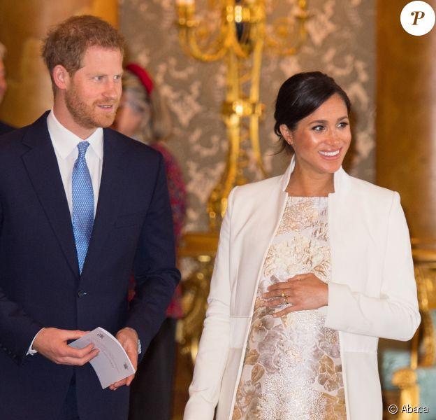 Meghan Markle et le prince Harry - La famille royale britannique réunie pour fêter le 50ème anniversaire de l'investiture du prince Charles au palais de Buckingham, le 5 mars 2019.