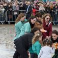 "Le prince William, duc de Cambridge, et Kate Catherine Middleton, duchesse de Cambridge, à la sortie de la ""Blackpool Tower"" à Blackpool. Le 6 mars 2019"