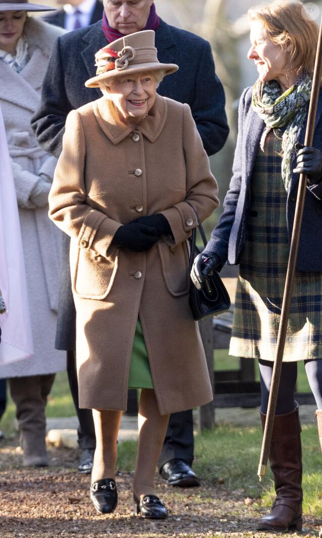 La reine Elisabeth II d'Angleterre se rend à l'église de Wolferton pour assister à la messe le 20 janvier 2019.