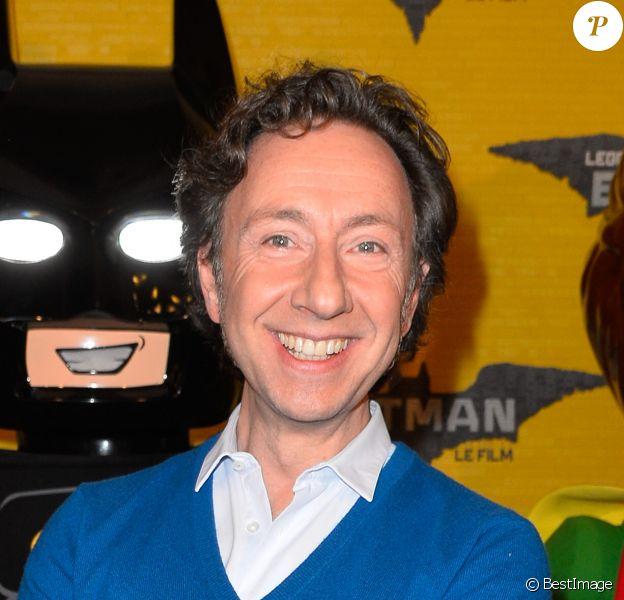 """Stéphane Bern à la première de """"Lego Batman"""" au cinéma le Grand Rex à Paris, le 01 février 2017. © Guirec Coadic/Bestimage"""