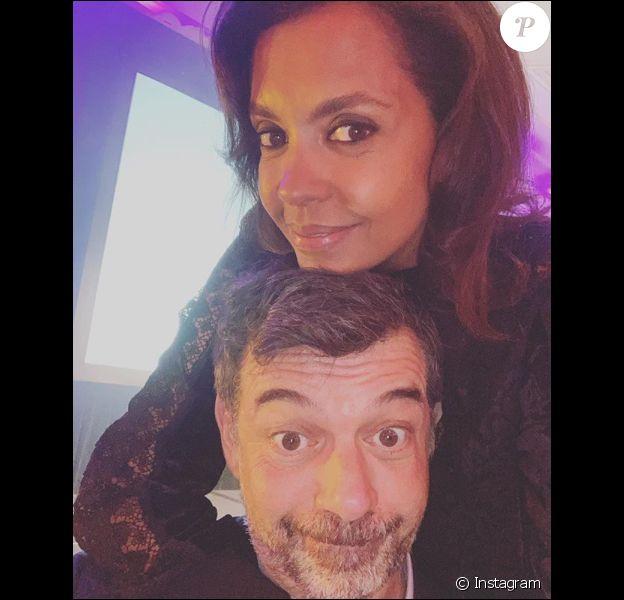 Karine le Marchand complice avec Stéphane Plaza, le 11 mars 2019.