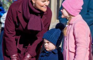 Estelle et Oscar de Suède : Mignons et bien couverts pour fêter Victoria