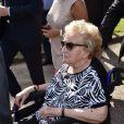 Inauguration de la rue Jacques et Bernadette Chirac, par la femme de l'ancien président de la République, Bernadette Chirac (en fauteuil roulant) et sa fille Claude, à Brive-la-Gaillarde. Le 8 juin 2018.