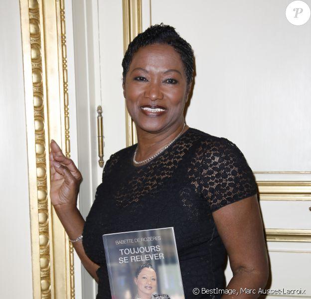 """Babette de Rozières - Lancement du livre de Babette de Rozières, """"Toujours se relever"""", au Meurice à Paris. Le 14 mars 2019 © Marc Ausset-Lacroix / Bestimage"""