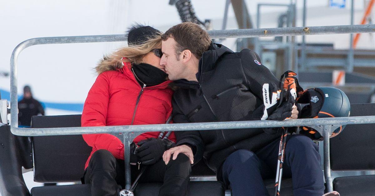 Brigitte Et Emmanuel Macron S Offrent Une Petite Viree Au Ski Purepeople