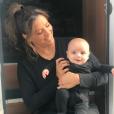 Eva Longoria et son fils Santiago. Octobre 2018.