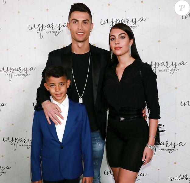 """Cristiano Ronaldo ouvre une clinique de greffe de cheveux """"Insparya Hair Clinic'"""" à Madrid, Espagne, le 18 mars 2019."""