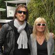 Christine Bravo et son amoureux à Roland-Garros, le 6 juin 2009