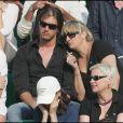Christine Bravo et son ami Nicoles en juin 2007 à Roland-Garros