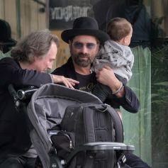 Exclusif - John Stamos avec son fils Billy à La Nouvelle-Orléans le 17 février 2019