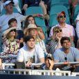 Anna Wintour et Blaine Trump ont assisté à l'entrée en lice de Roger Federer dans le Masters 1000 de Miami, le 23 mars 2019, au Hard Rock Stadium.