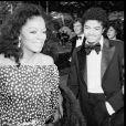 Diana Ross et Michael Jackson en 1981 à Los Angeles.