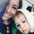 Natasha St-Pier et son fils sur Instagram, le 15 février 2019.