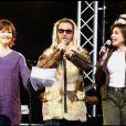 Maurane, Florent Pagny et Liane Foly au concert de l'association Laurette Fufain pour le don de plaquettes au Champs de Mars, en 2003