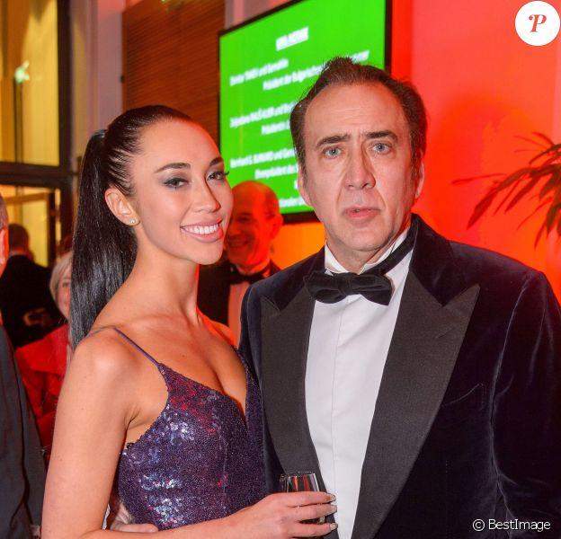 Nicolas Cage et sa compagne Erika Koike au ball des juristes au palais Hofburg à Vienne, Autriche, le 7 mars 2019