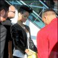 Rihanna à son arrivée au match des Lakers