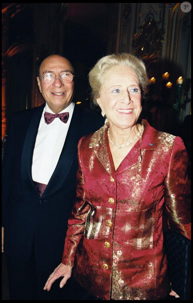 Serge et Nicole Dassault à Paris en 2000.