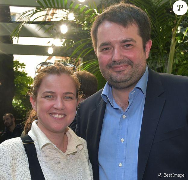 Jean-François Piège et sa femme Elodie Tavares - Défilé Bonpoint Collection printemps / été 2017 à l'Hôtel de Brancas à Paris le 6 juillet 2016. © Giancarlo Gorassini / Bestimage