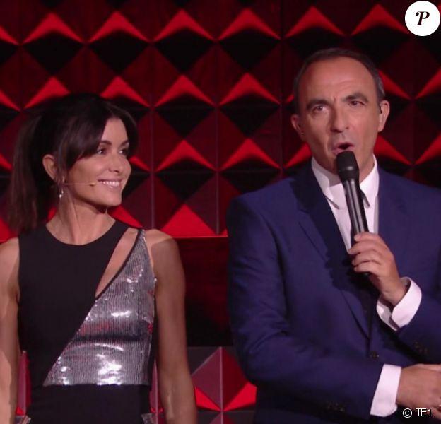 """Jenifer lors du premier prime des """"K.O"""" de """"The Voice 8"""" samedi 6 avril 2019 sur TF1, en compagnie de Nikos Aliagas."""