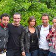 Cyril Hanouna, Pascal Sellem, Daphné Desjeux, Nicolas Deuil et Marine Vigne, lors du tournoi des personnalités de Roland-Garros qui s'est tenu du 2 au 5 juin 2009 !