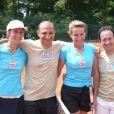 Thomas Fabius et Florence Schaal lors du tournoi des personnalités de Roland-Garros qui s'est tenu du 2 au 5 juin 2009 !