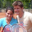 Clémence Castel et son frère lors du tournoi des personnalités de Roland-Garros qui s'est tenu du 2 au 5 juin 2009 !