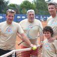 Benjamin Castaldi, Jean-Pierre Castaldi et Denis Brogniart lors du tournoi des personnalités de Roland-Garros qui s'est tenu du 2 au 5 juin 2009 !