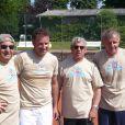 Pierre Sled, Michel Boujenah et Patrick Poivre d'Arvor, lors du tournoi des personnalités de Roland-Garros qui s'est tenu du 2 au 5 juin 2009 !