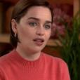 Emilia Clarke se confie sur ses deux AVC pour CBS, le 7 avril 2019.
