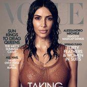 Kim Kardashian : Première couverture seule pour Vogue et photo avec ses enfants