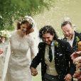Mariage de Kit Harington et Rose Leslie en l'église Rayne a Aberdeen en Ecosse, le 23 juin 2018.