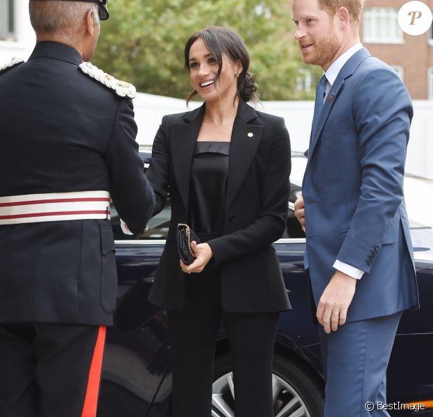 Le prince Harry, duc de Sussex et Meghan Markle, duchesse de Sussex arrivent à la soirée WellChild Awards à l'hôtel Royal Lancaster à Londres le 4 septembre 2018.