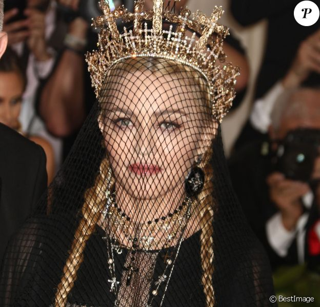 Madonna - Les célébrités arrivent à l'ouverture de l'exposition Heavenly Bodies: Fashion and the Catholic Imagination à New York le 7 mai 2018. © Nancy Kaszerman via ZUMA Wire / Bestimage