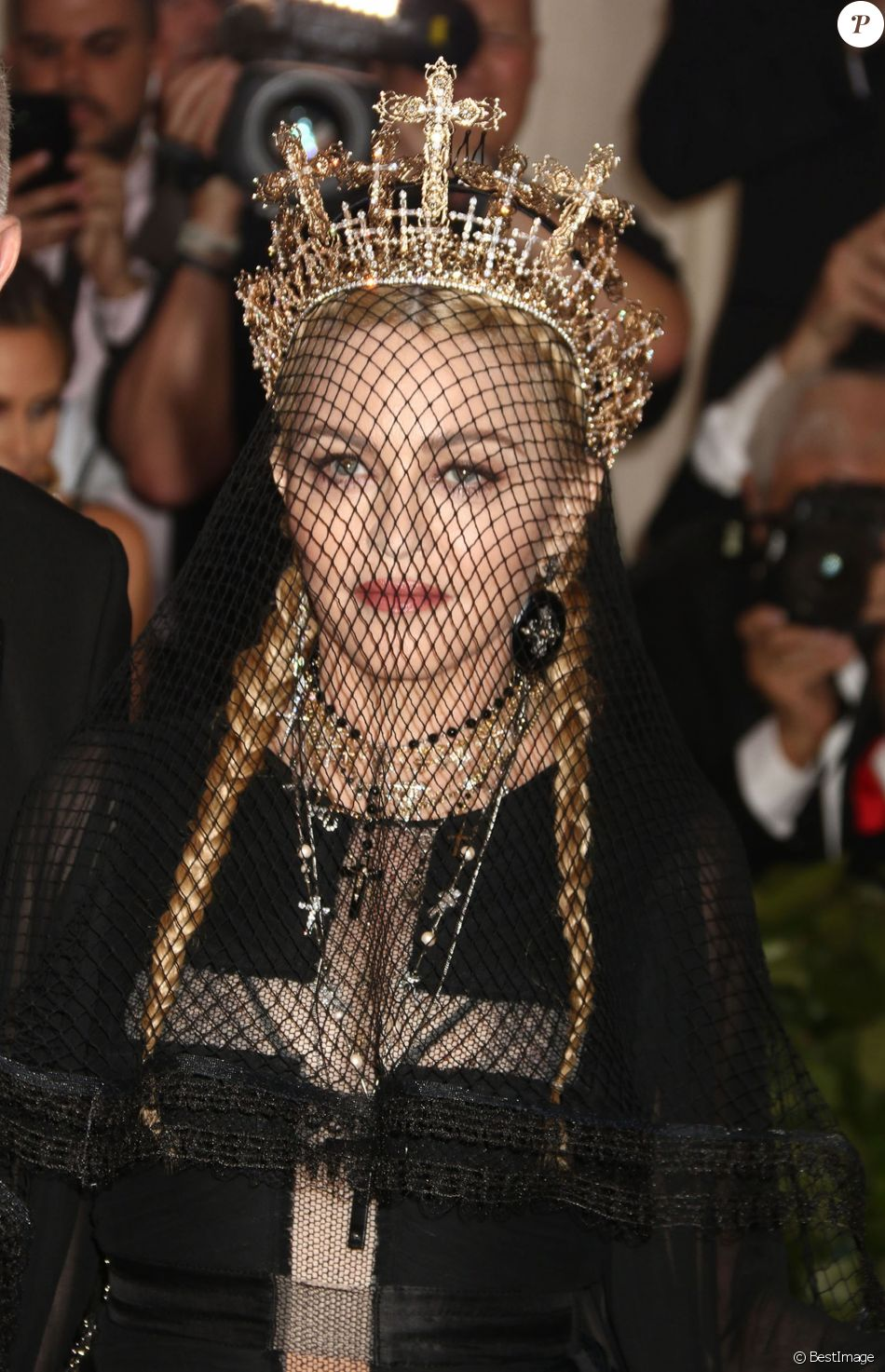 Madonna - Les célébrités arrivent à l'ouverture de l'exposition Heavenly Bodies: Fashion and the Catholic Imagination à New York le 7 mai 2018. © Nancy Kaszerman via ZUMA Wire / Bestimage