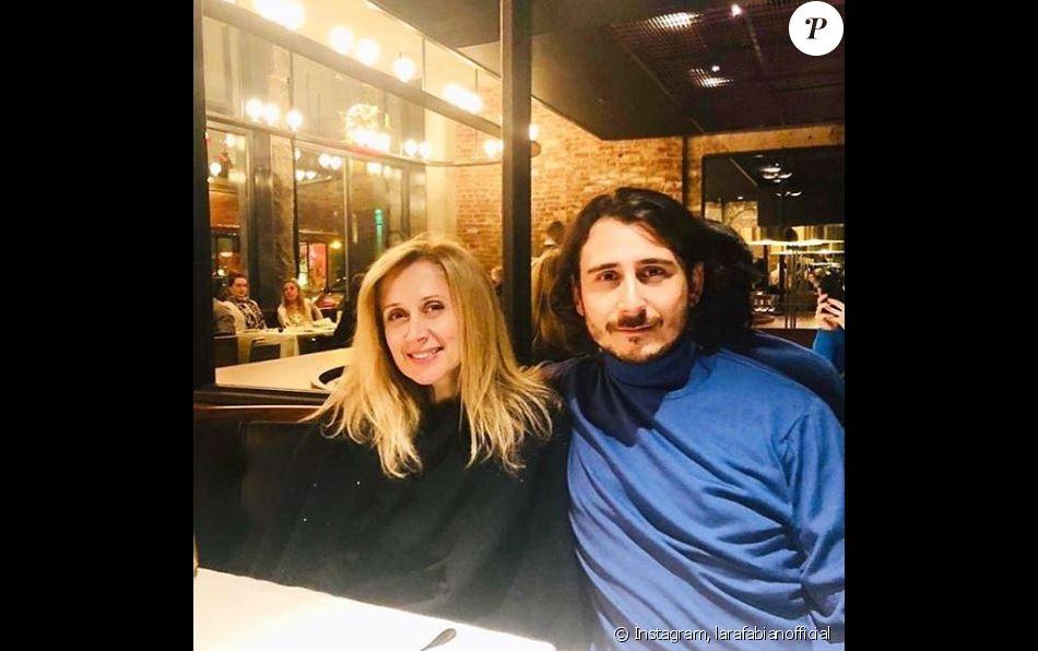 Lara Fabian et son mari Gabriel, au restaurant à Montréal, le 16 avril 2019