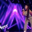 """Pearl dans """"The Voice 8"""" sur TF1 le 20 avril 2019."""