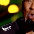 """Adrian Byron Burns dans """"The Voice 8"""" sur TF1, le 20 avril 2019."""