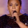 """Virginie dans """"The Voice 8"""" sur TF1, le 20 avril 2019."""
