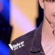 """Alex dans """"The Voice 8"""" sur TF1, le 20 avril 2019."""